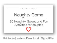 Joyful Couple's Naughty Game. Printable version.