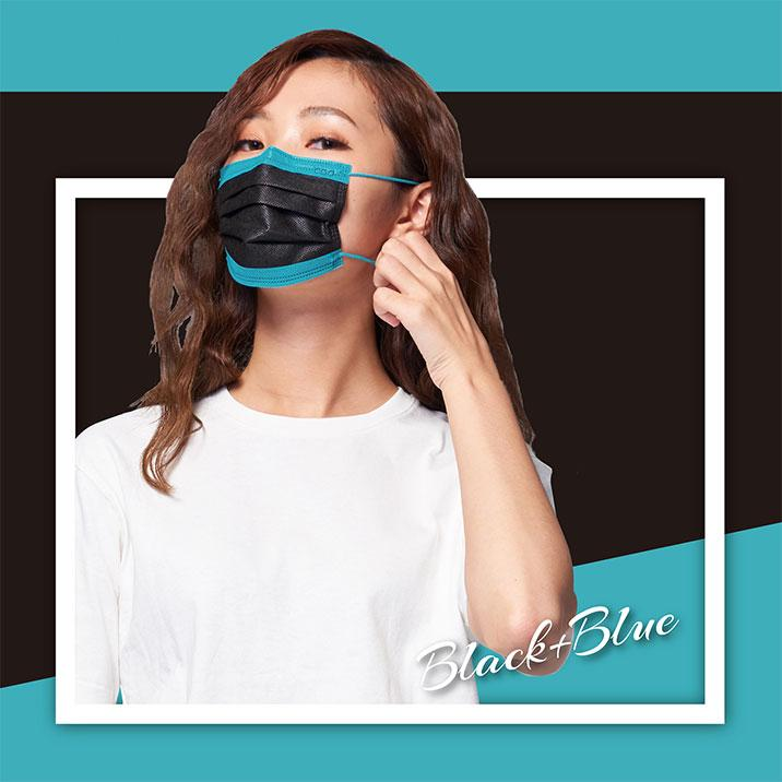 CSD Mix 'n Match Series - Black & Blue - 30/Box - Taiwan Masks