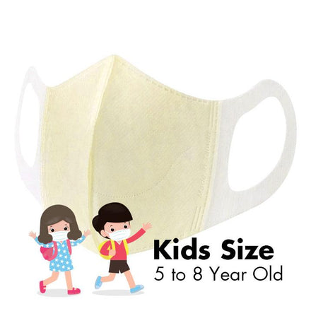 Disposable 3D Face Masks - KIDS - Butter Yellow - 50/Box - Taiwan Masks