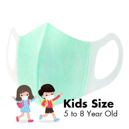 Disposable 3D Face Masks - KIDS - Tiffany Green - 50/Box - Taiwan Masks
