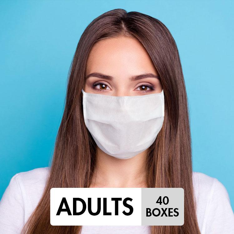 Face Mask Bundle - Adults (Blue) - 40 Boxes - Taiwan Masks