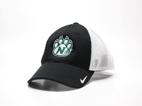 Northwest Bearcats Nike Golf Fitted 2-Tone Mesh Hat - Black