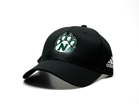 Northwest Bearcats Adidas Structured Hat - 3/4 view Black