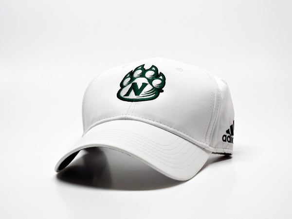 Northwest Bearcats Adidas Structured Hat - 3/4 view White