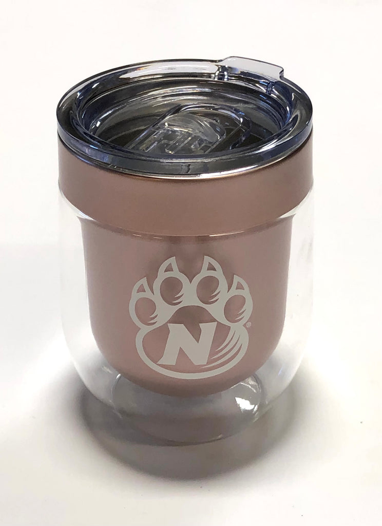 Bearcats Rose Gold Wine Glass