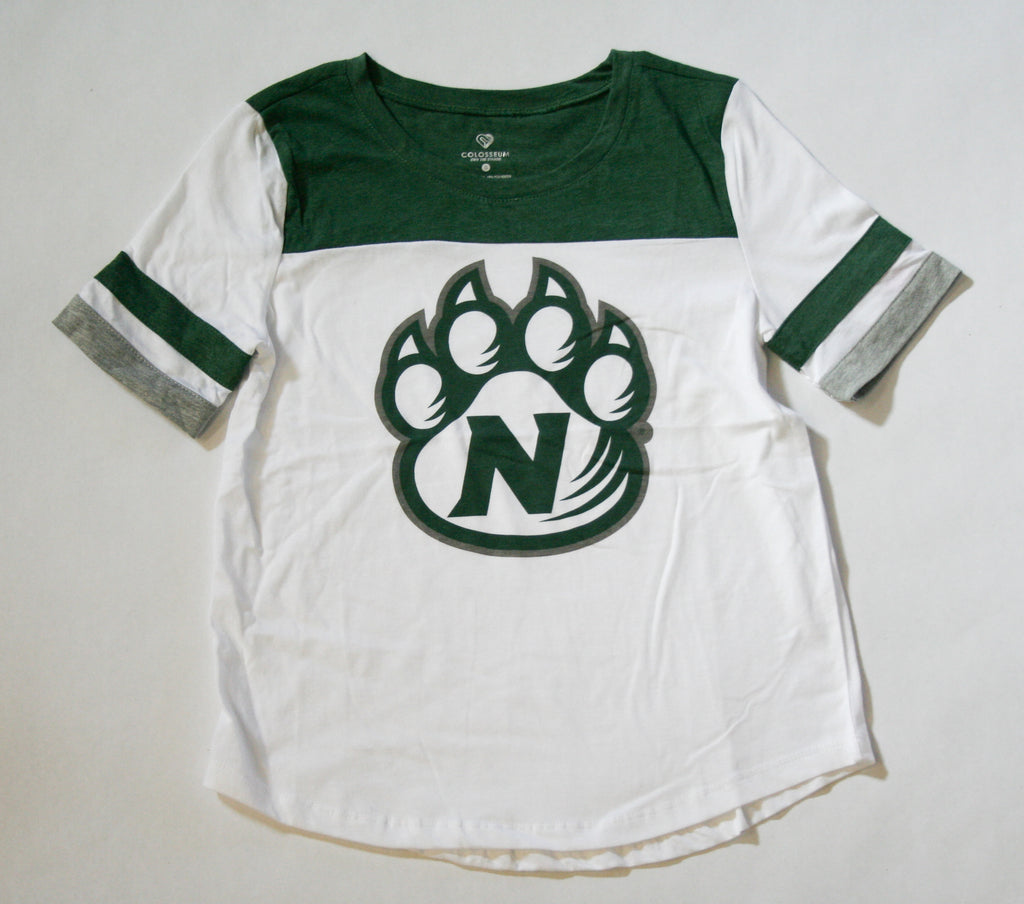 Women's Short Sleeve T with Paw by Colosseum