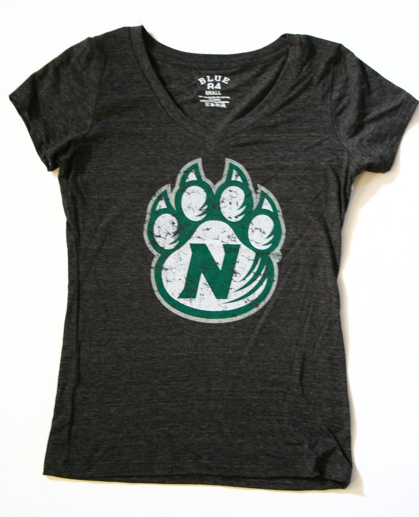 Women's Tri-Blend Short Sleeve T with Distressed Paw by Blue 84