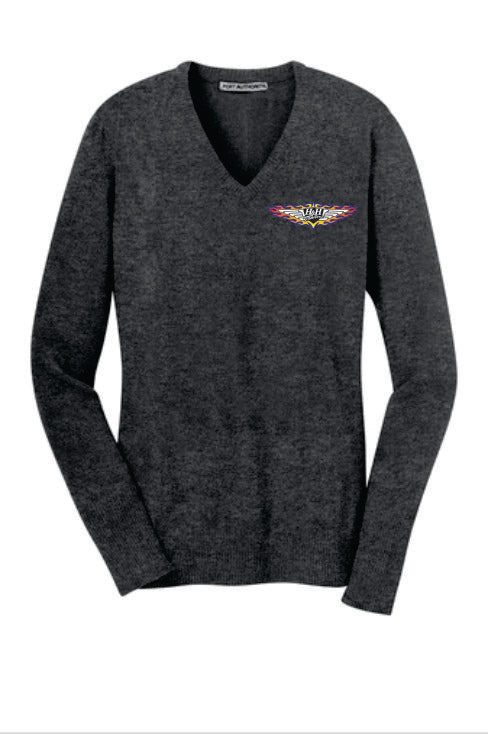 H&H Trailers Port Authority Ladies V-Neck Sweater