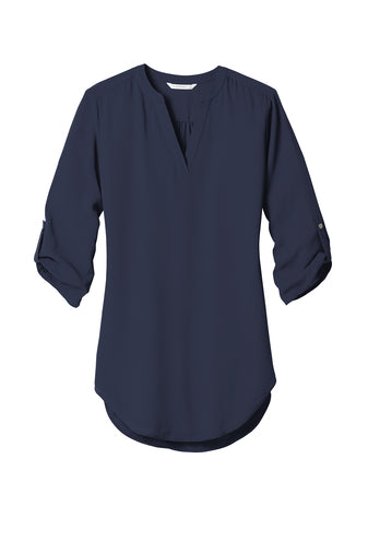 H&H Port Authority Ladies 3/4 Sleeve Tunic Blouse
