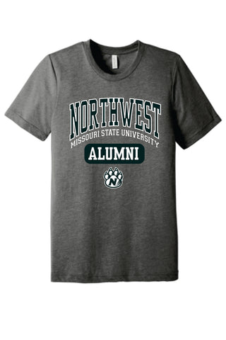 Northwest Bearcats Alumni Bella Canvas Tri-blend Short Sleeve