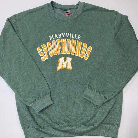 Spoofhound heather green sweatshirt
