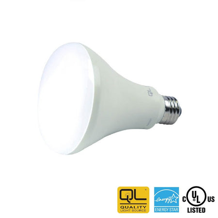 Dimmable LED Bulb, QLS 8.5 Watt 4000K BR30 Enclosed Rated - ION LIGHTING DISTRIBUTION