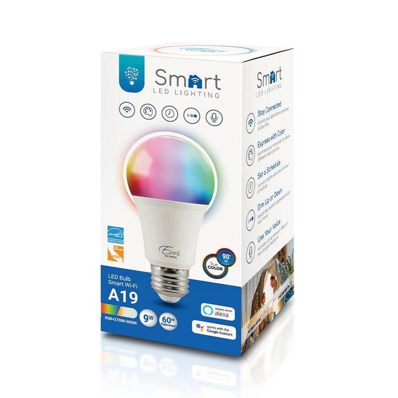 SMART BULB A19 LED RGB+White 9W | 60W Replacement | Alexa and Google Home - ION LIGHTING DISTRIBUTION