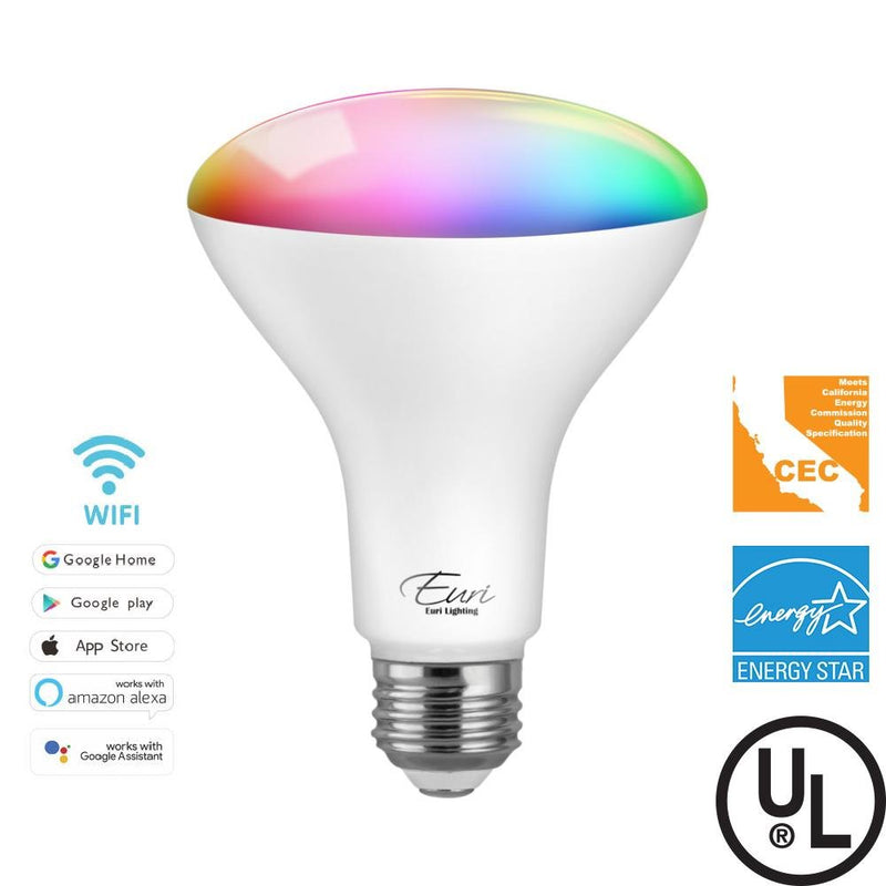 SMART BULB BR30 LED RGB+White 9W | 60W Replacement | Alexa and Google Home - ION LIGHTING DISTRIBUTION