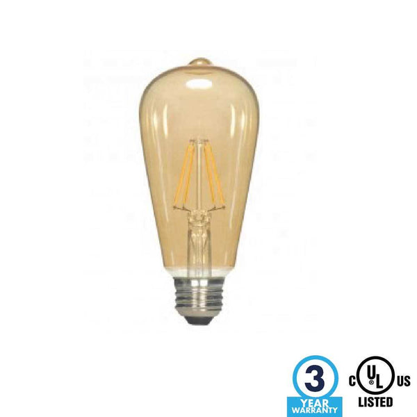 ST19 Transparent Amber LED 6.5W 2000K - ION LIGHTING DISTRIBUTION
