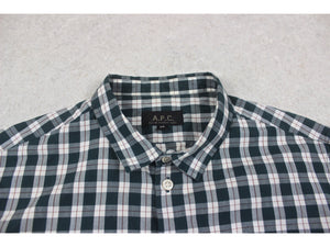 A.P.C. - Shirt - Green/White Check - Extra Small
