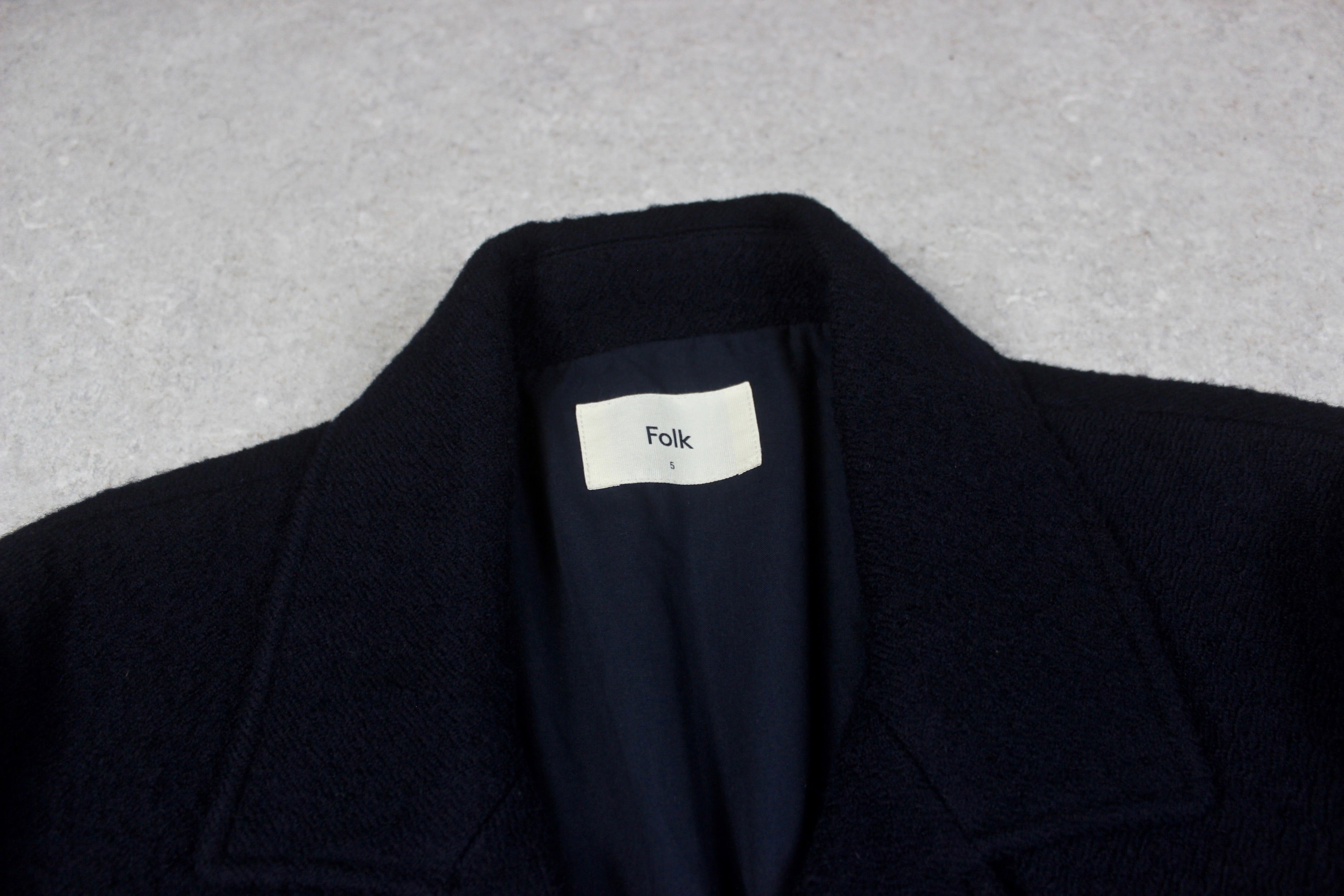 Folk - Knit Jacket - Black - 5/Extra Large