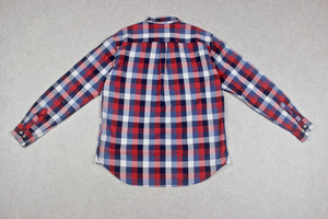 Albam - Shirt - Red/Navy Blue Check - 1/Small