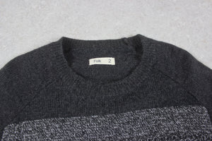 Folk - Knit Jumper - Grey Stripe - 2/Small