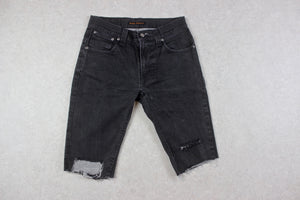 Nudie Jeans Co - Denim Cut Off Shorts - Black - 30