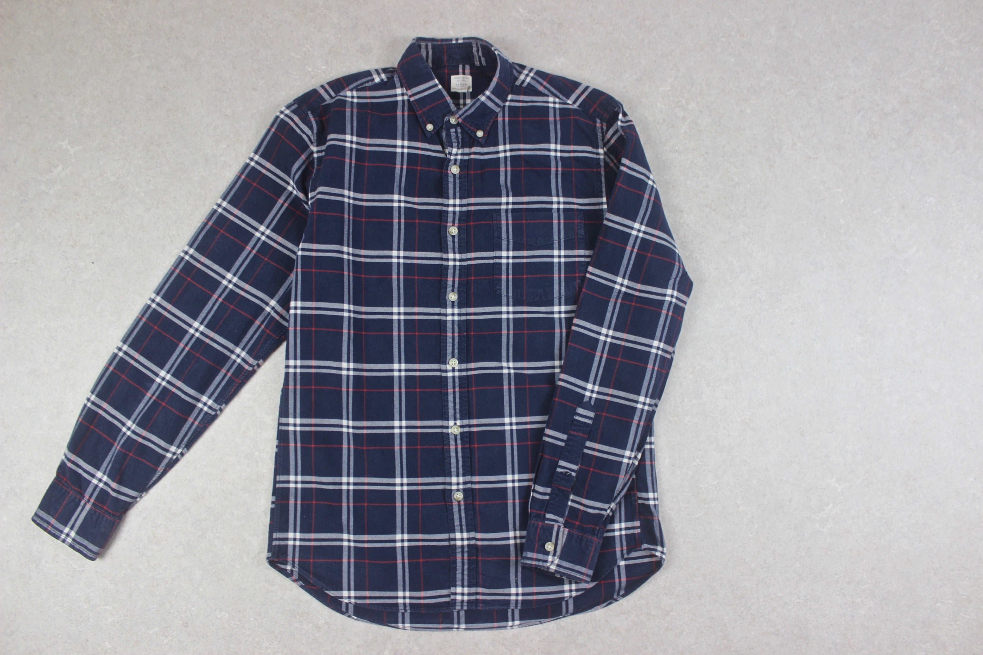 J Crew - Oxford Shirt - Blue/White Check - Small