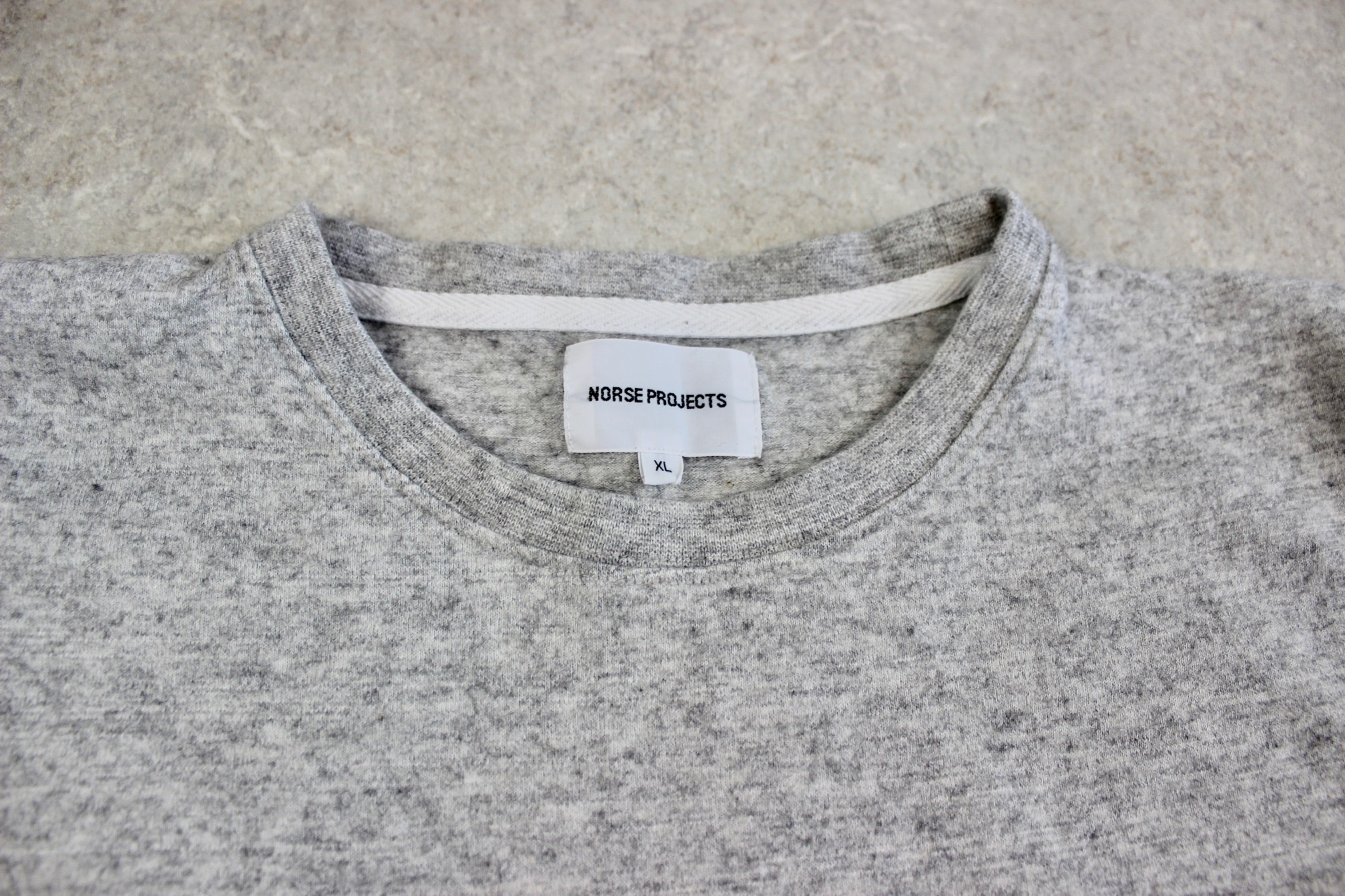 Norse Projects - Wool Blend T Shirt - Grey Ombre - Extra Large
