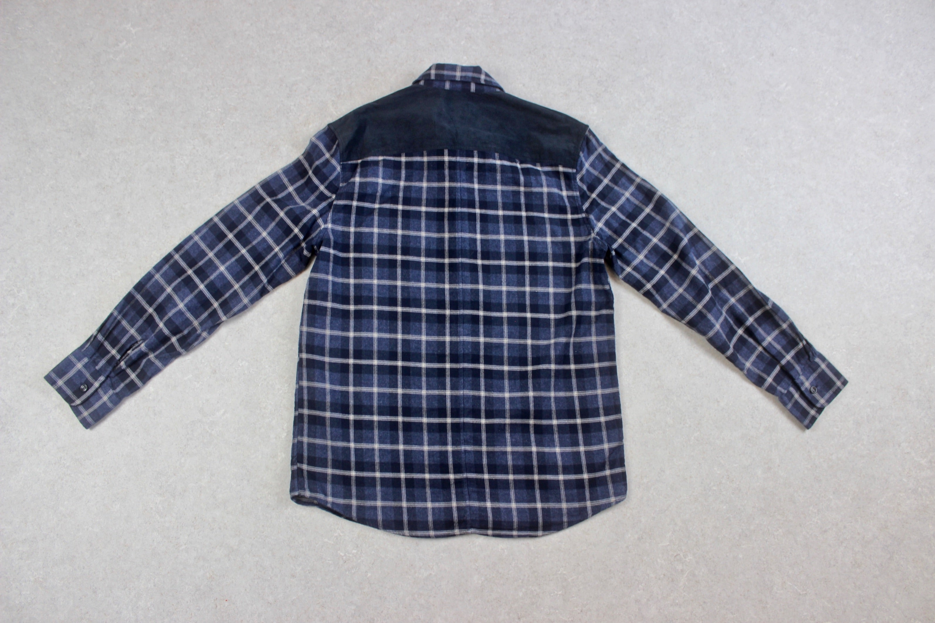 A.P.C. - Shirt - Navy Blue/Grey Check - Medium