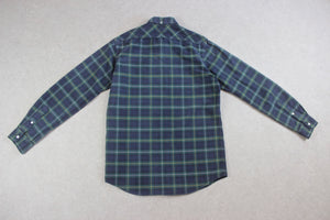 RRL Ralph Lauren - Popover Shirt - Green/Navy Blue Check - Small