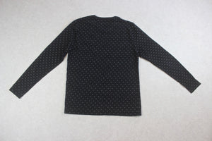 Our Legacy - Long Sleeve T Shirt - Black/Grey Polka Dot - 50/Large