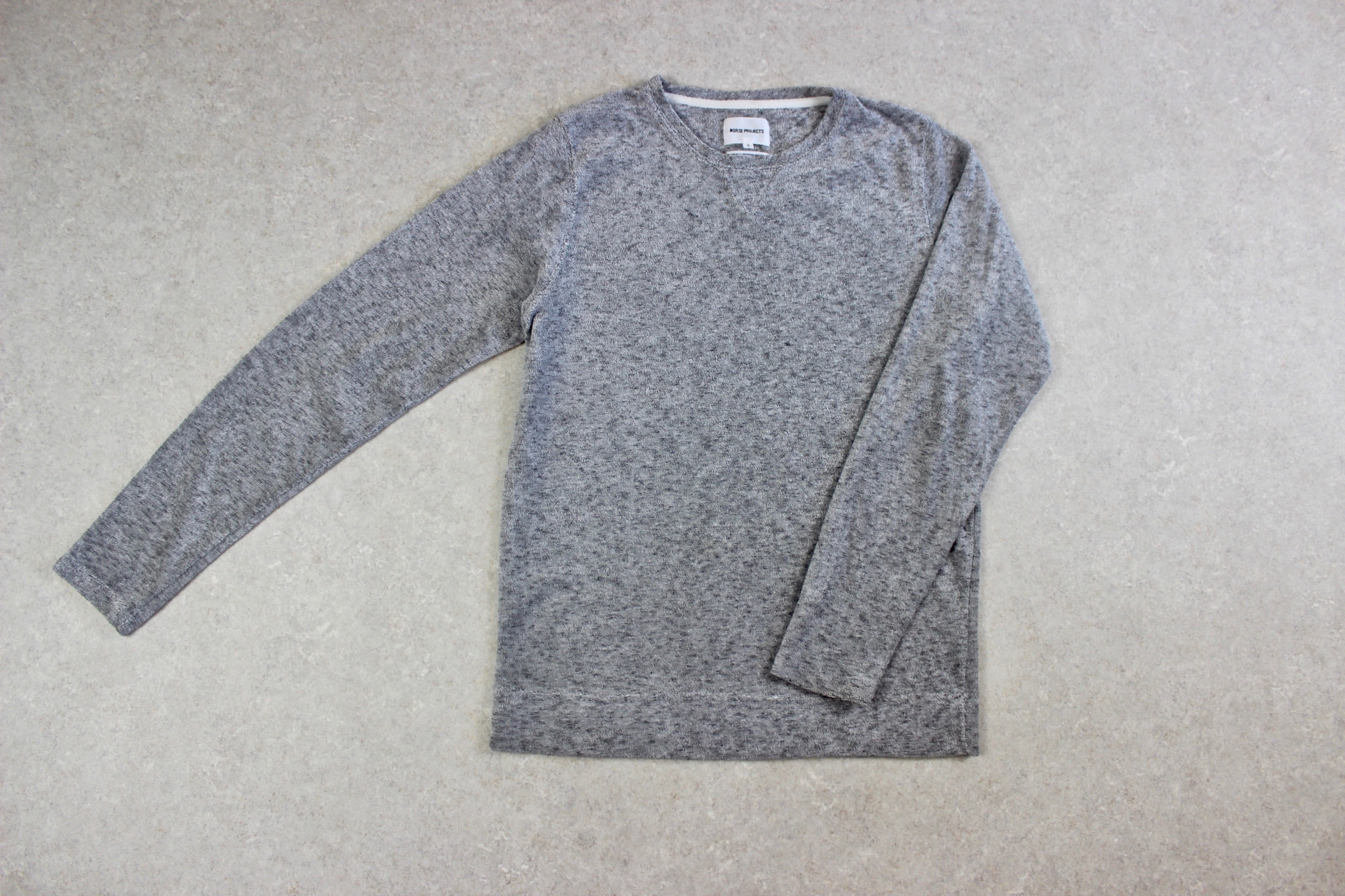 Norse Projects - Towelling Jumper - Grey - Small