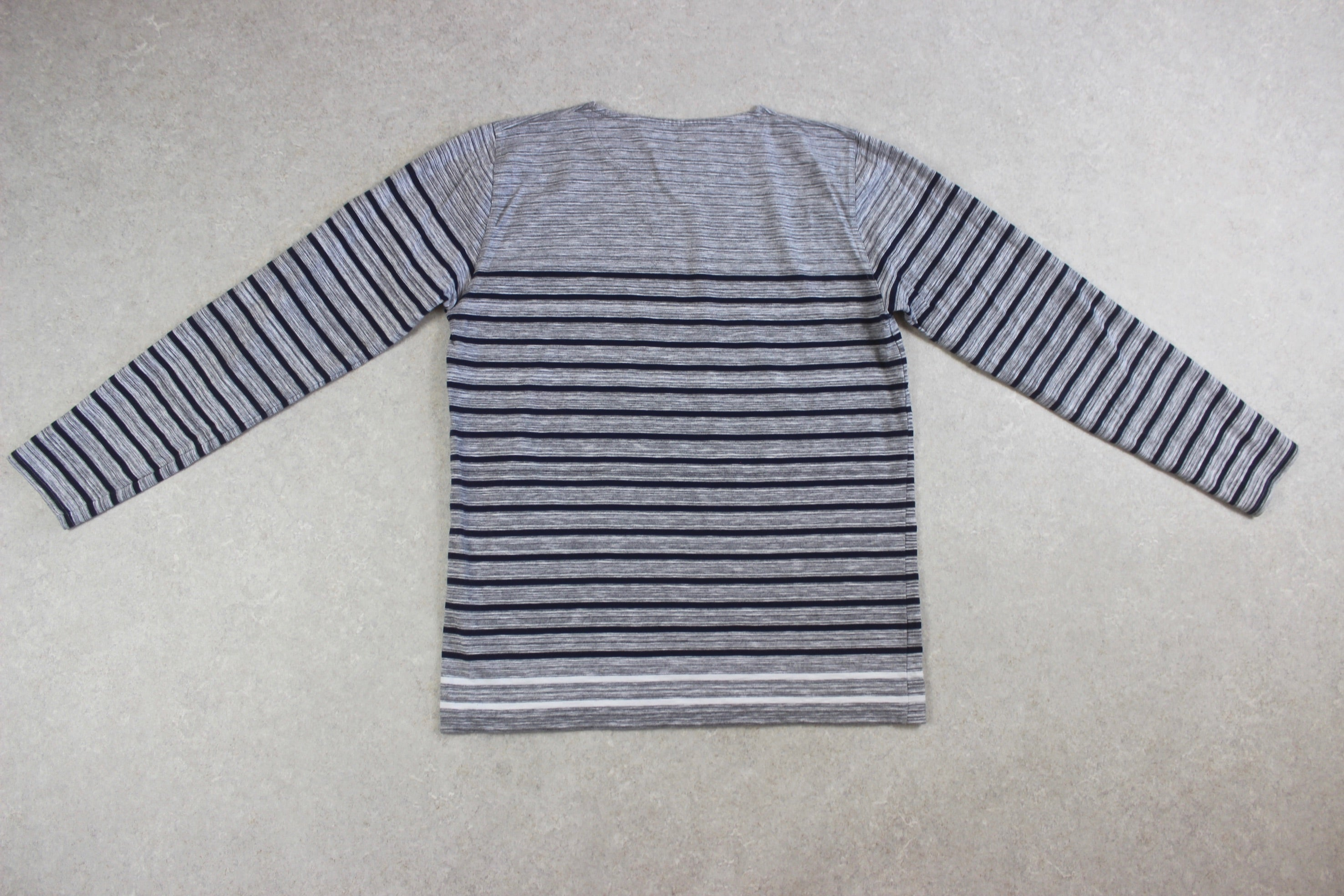 Norse Projects - Long Sleeve Stripe T Shirt - Grey/Navy Blue - Large