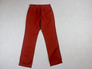 MHL Margaret Howell - Fatigue Trousers - Red - Small