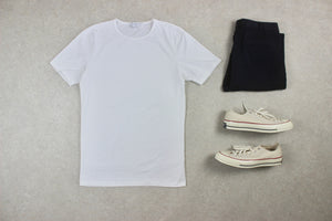 Sunspel - T Shirt - White - Medium