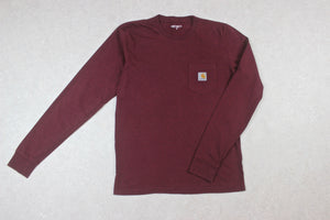 Carhartt WIP - Long Sleeve T Shirt - Burgundy Red - Small