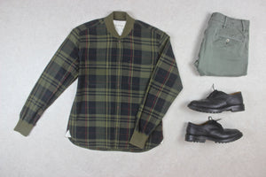 Universal Works - Shirt Jacket - Olive Green Check - Medium