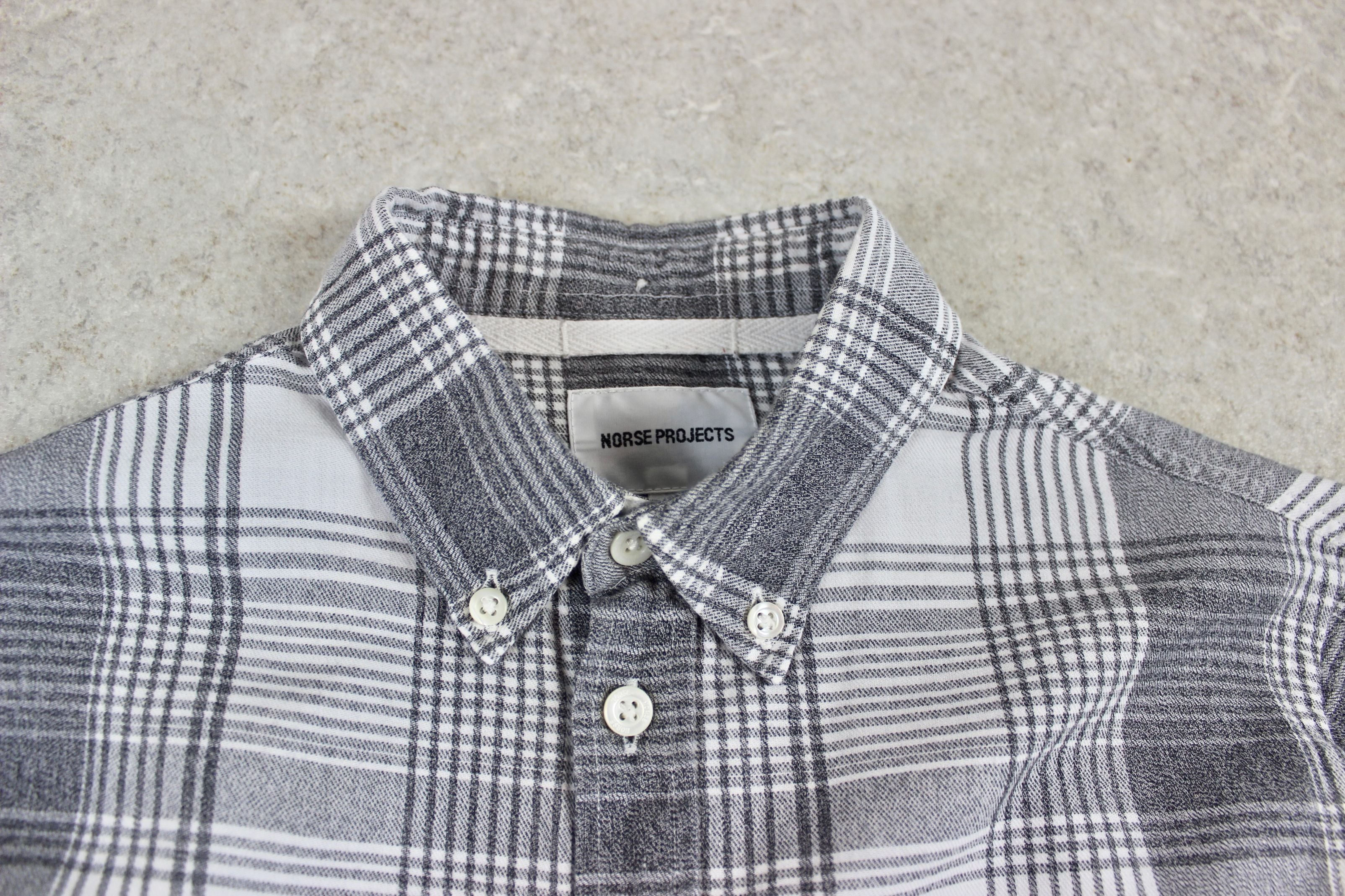 Norse Projects - Shirt - White/Grey Check - Extra Small