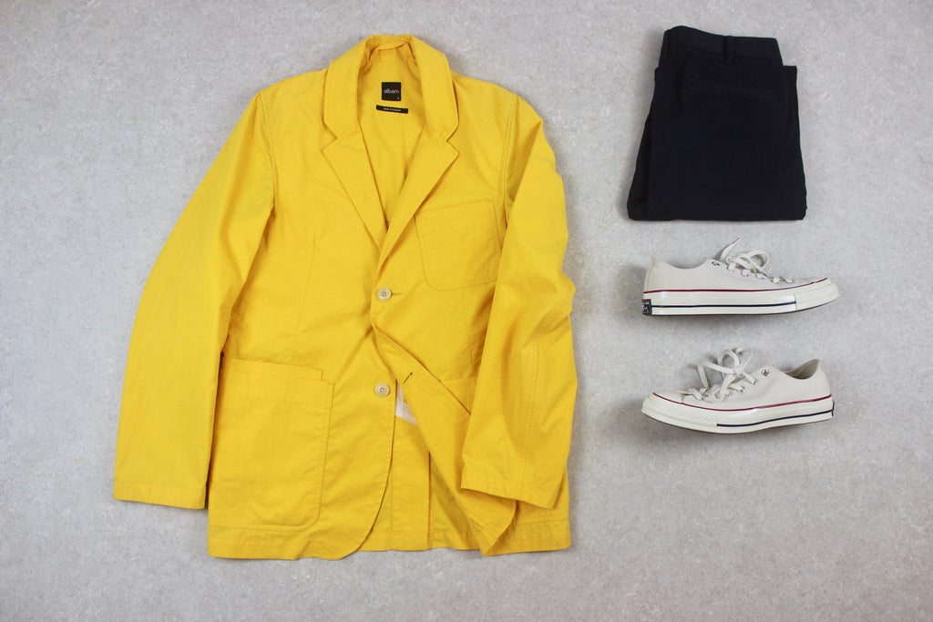 Albam - Blazer Jacket - Yellow - 1/Small