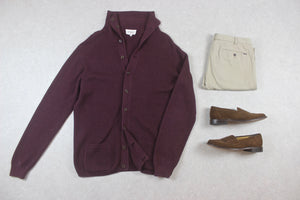 YMC - Knit Cardigan - Burgundy - Extra Large