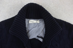 Folk - Knit Cardigan - Navy Blue - 3/Medium