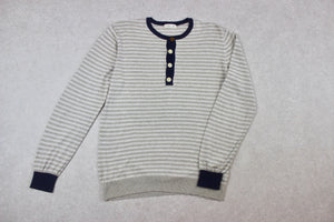 Folk - Knit Jumper - Beige/Cream Stripe - 4/Large