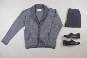 Oliver Spencer - Wool Knit Cardigan - Grey - Extra Large