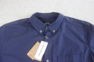 A.P.C. - Shirt - Navy Blue - Extra Large - Brand New With Tags