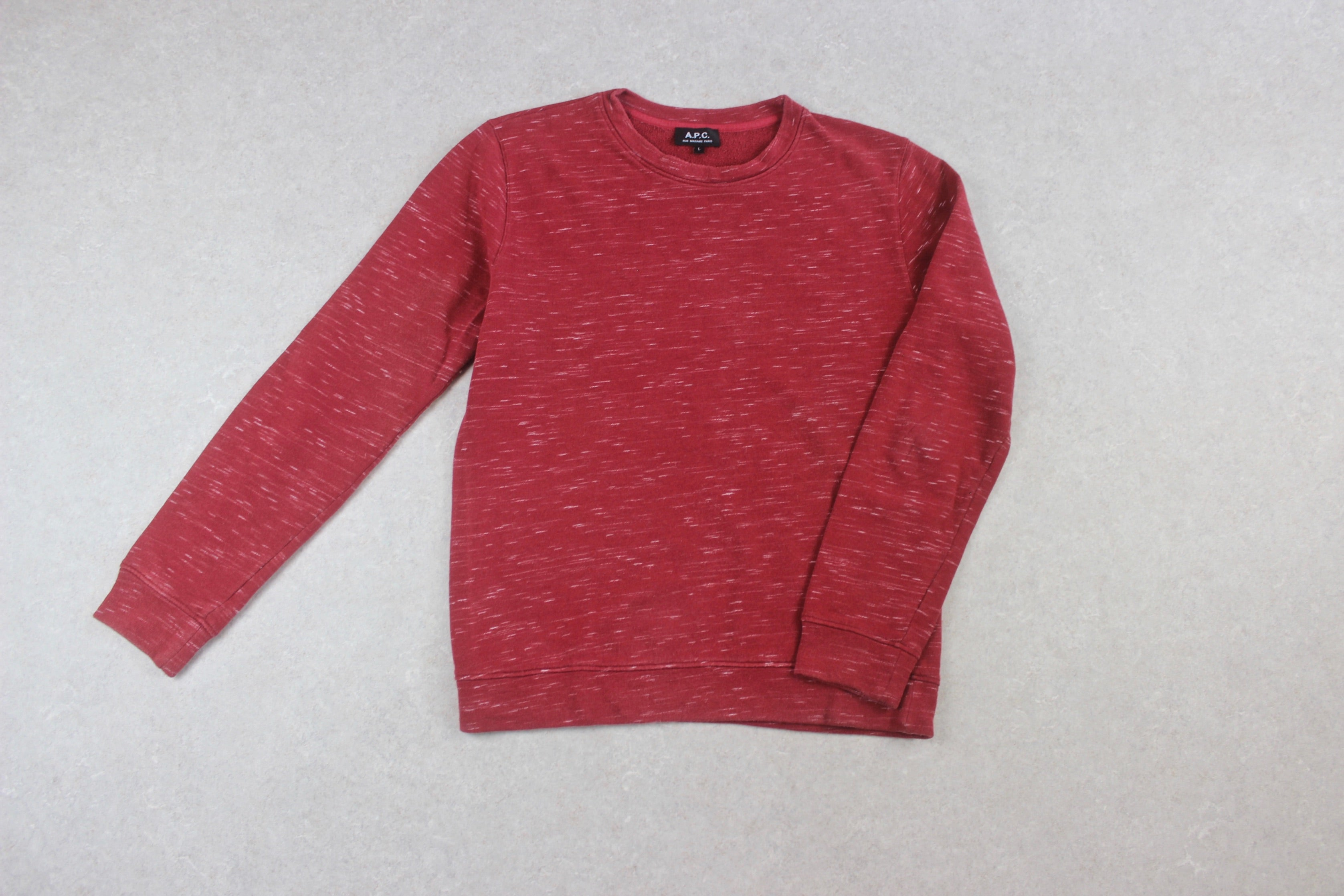A.P.C. - Sweatshirt Jumper - Red - Large