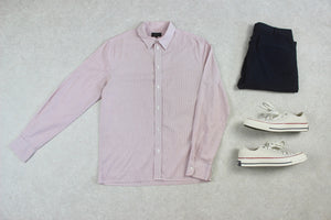 A.P.C. - Shirt - Pink/White Stripe - Small