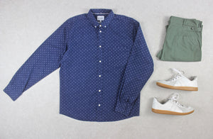 Norse Projects - Shirt - Navy Blue Pattern - Extra Large