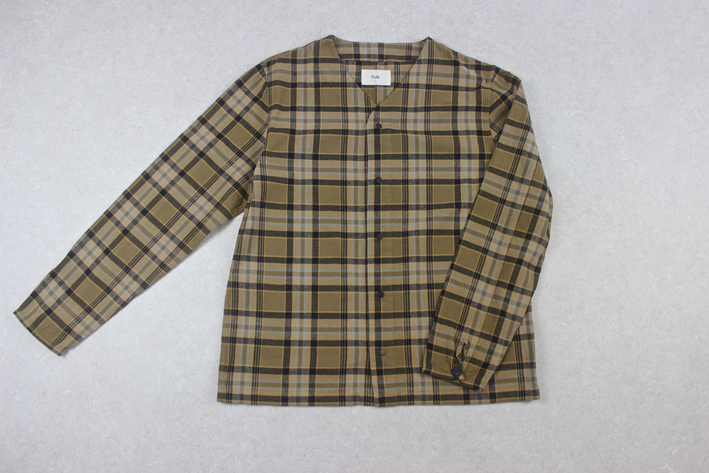 Folk - Shirt Jacket - Brown Check - 5/Extra Large