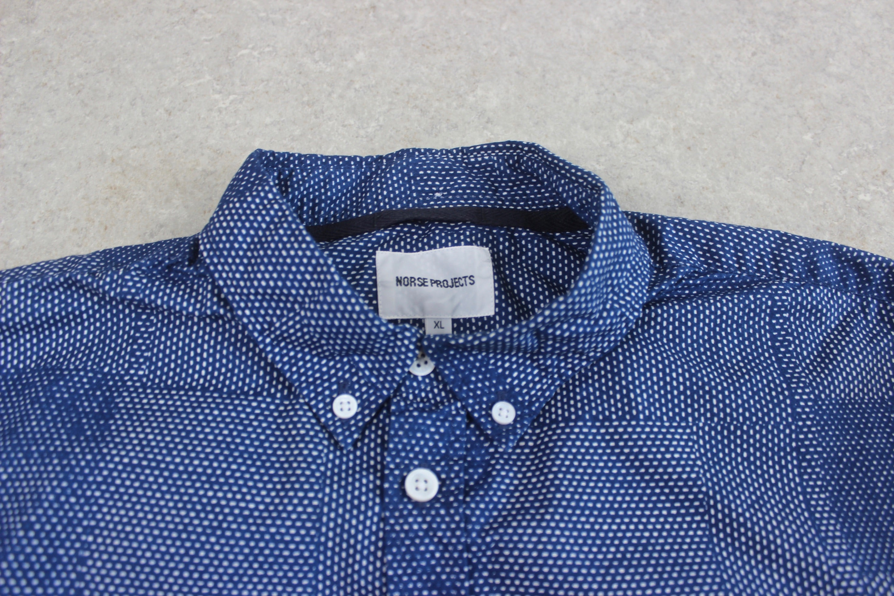 Norse Projects - Shirt - Blue Dot Pattern - Extra Large