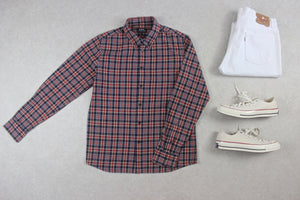 A.P.C. - Shirt - Red/Navy Blue Check - Medium
