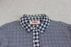 YMC - Shirt - White/Navy Blue Check - Large