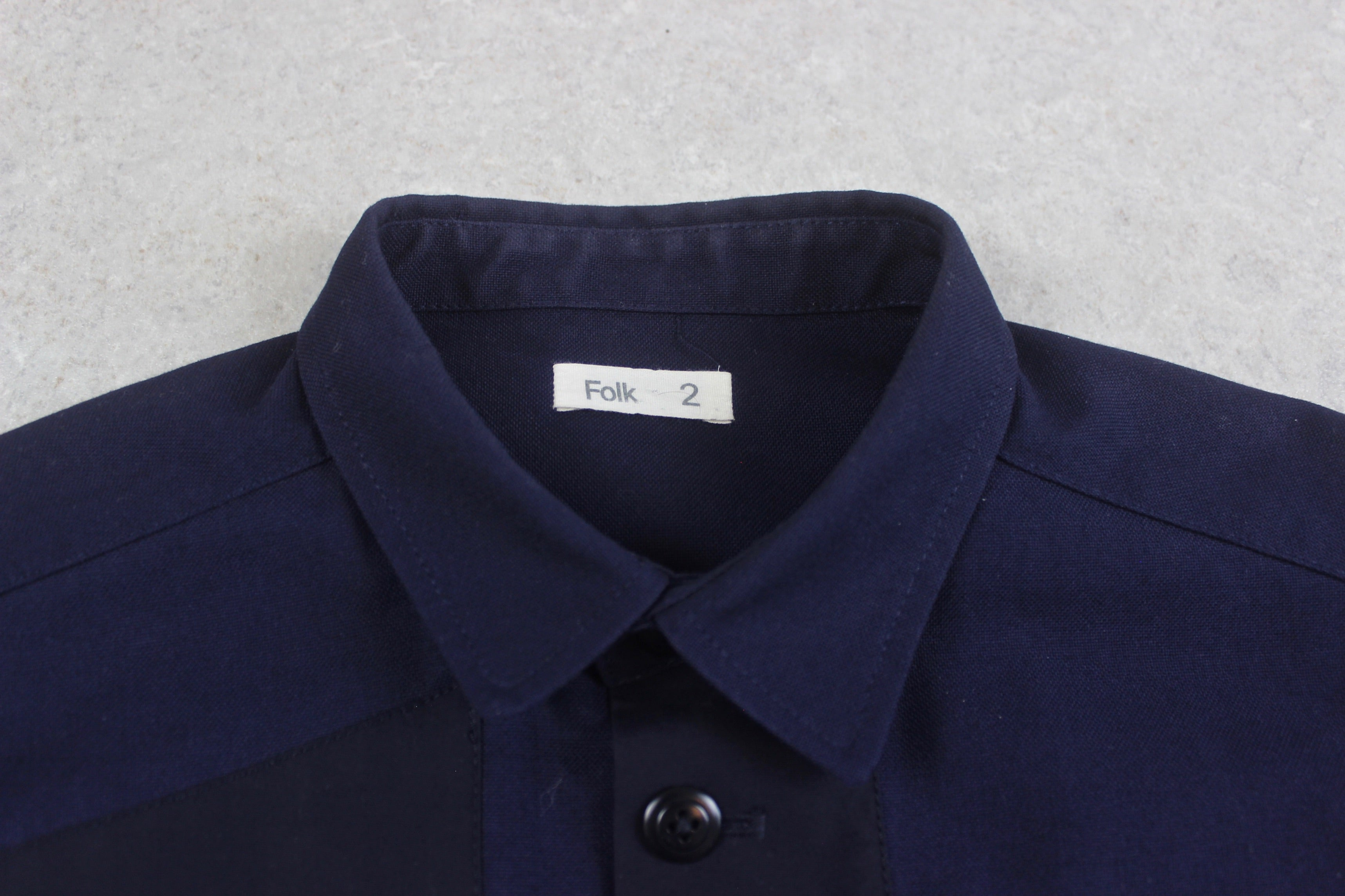 Folk - Workwear Patch Jacket - Navy Blue - 2/Small